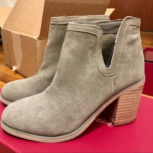 NEW UO olive green leather ankle  boots heels